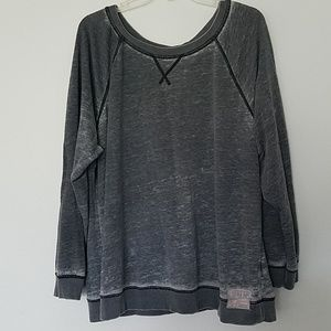 Women's burnout style sweater